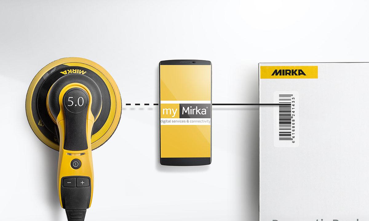 Mirkan hiomakone yhdistyy kännykän applikaatioon ja tietokoneeseen.
