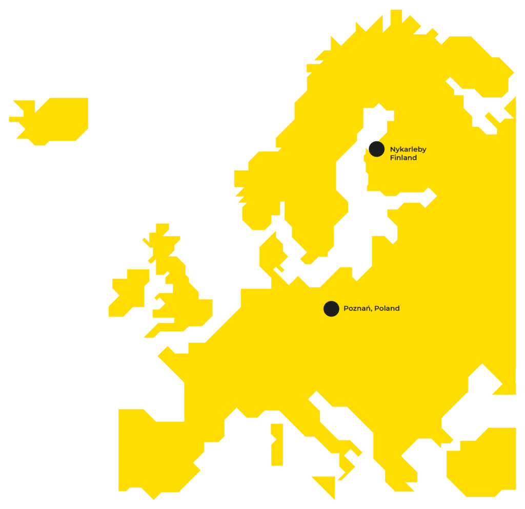 Map of Prevex locations in Europe.
