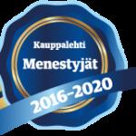 Sininen sinetti, jssa teksti Menestyjät 2026-2020.