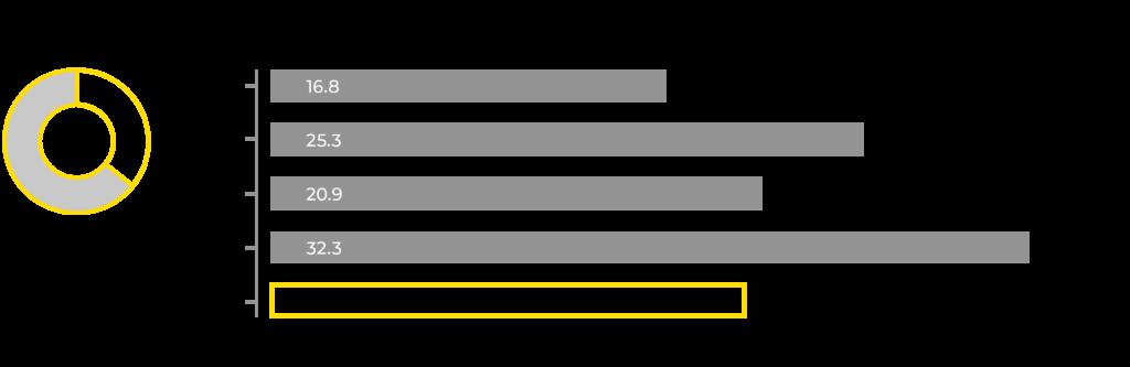 Graafi Mirkan investointien kehityksestä 2016-2020.