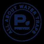Prevexin logo All about water traps -tekstillä.
